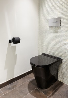 London penthouse powder room cloakroom interior design project