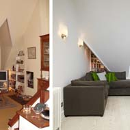 Before and After: London Loft Conversion Sitting Room
