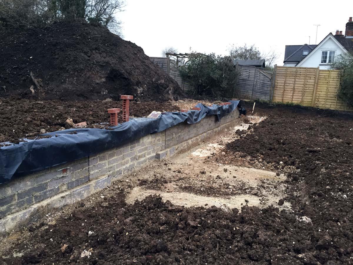 landscape design hampshire wall 1