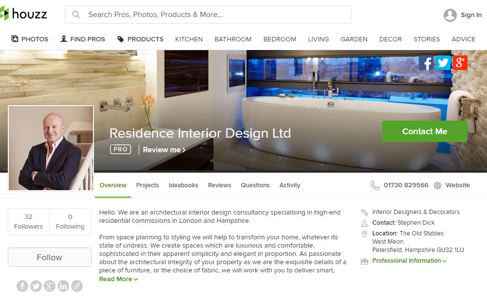 residence interior designer london profile on houzz