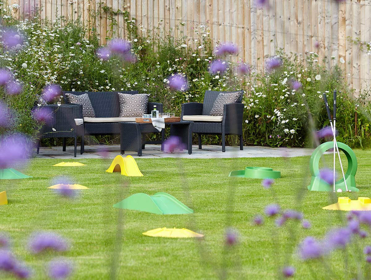 Winchester Hampshire landscape design with minigolf