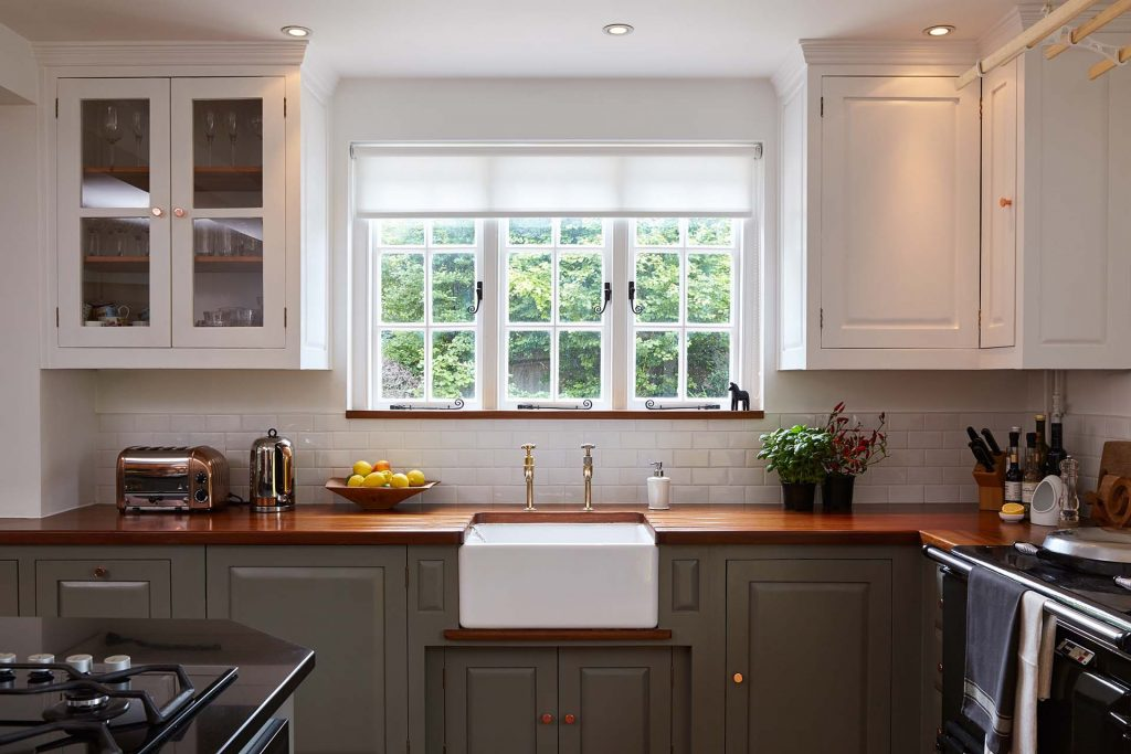 Timber Worktops in Modern Country Kitchen Hampshire