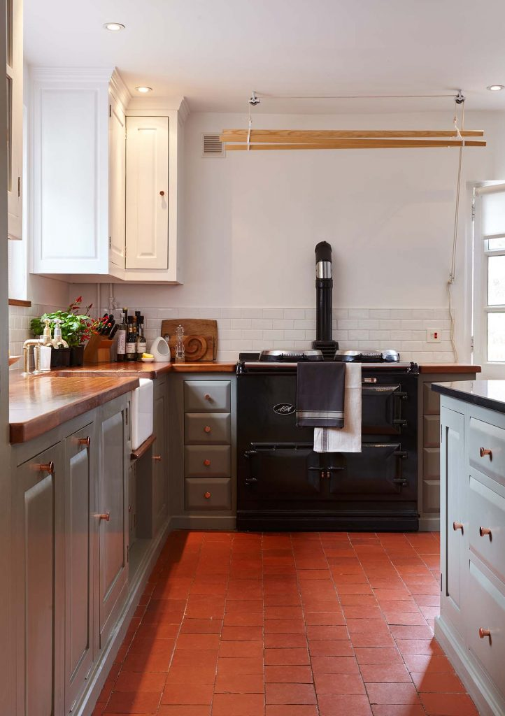 Aga in Winchester Hampshire Modern Country Kitchen