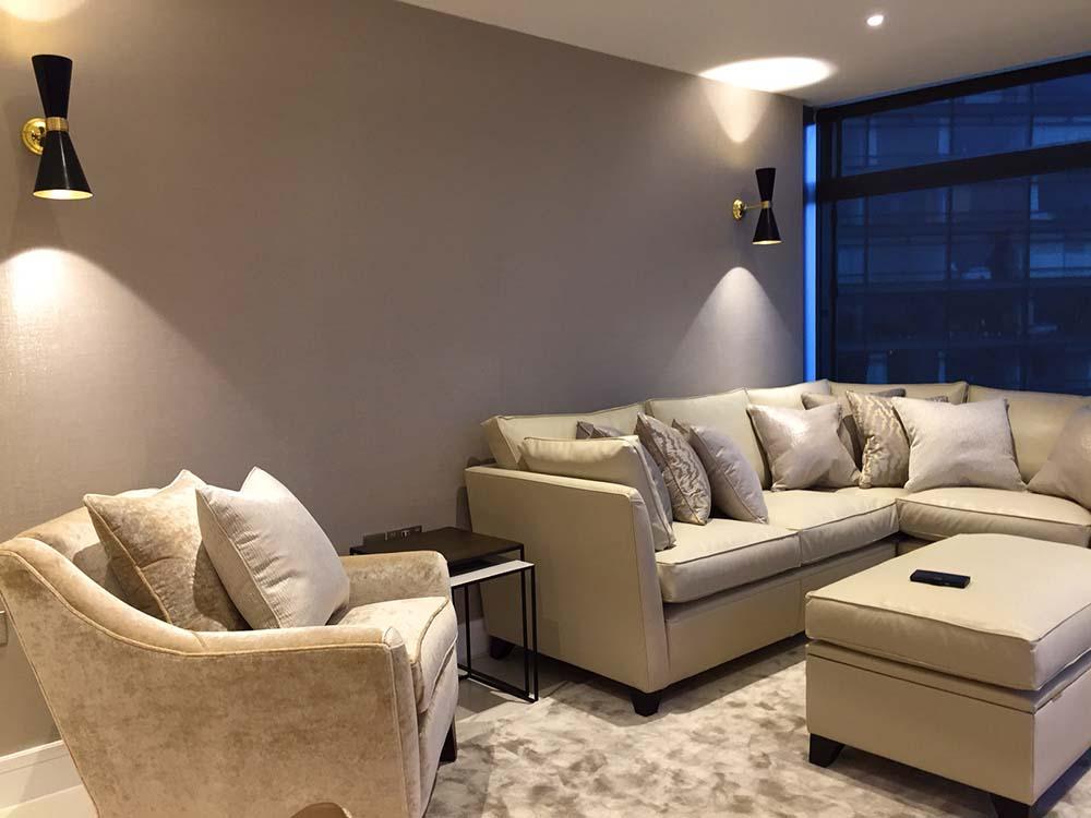London design project sitting room furnishings