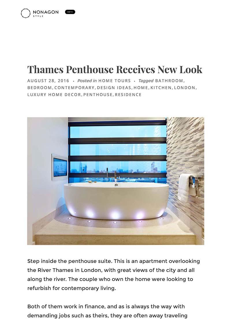 nonagon style london apartment interior design p1