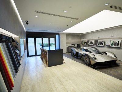 aston martin design showroom interior