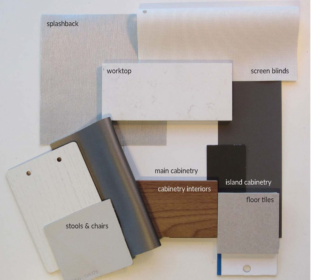 hampshire kitchen design finishes sample board