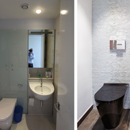 Before and After: London Powder Room / Cloakroom Design