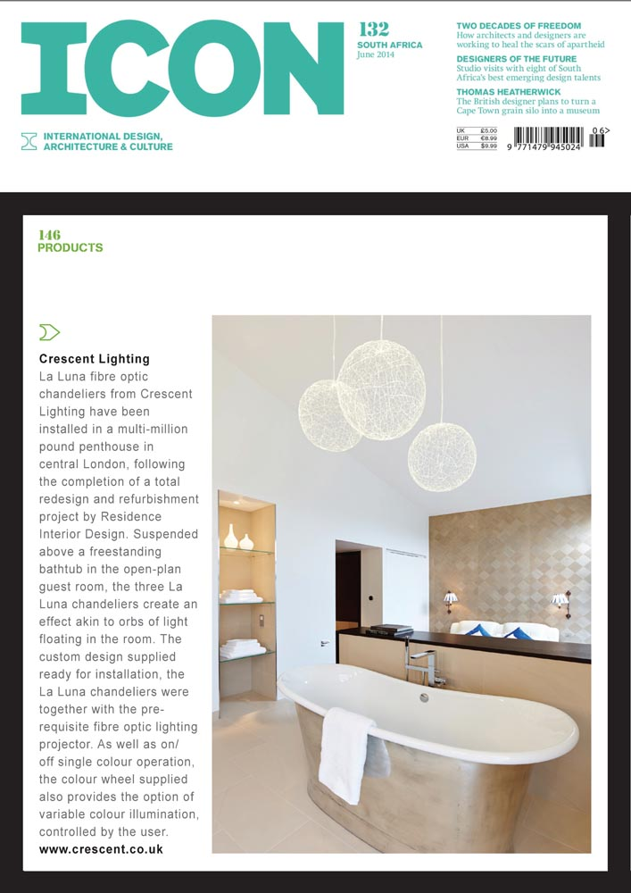 Icon Magazine June 2014 Lighting Design