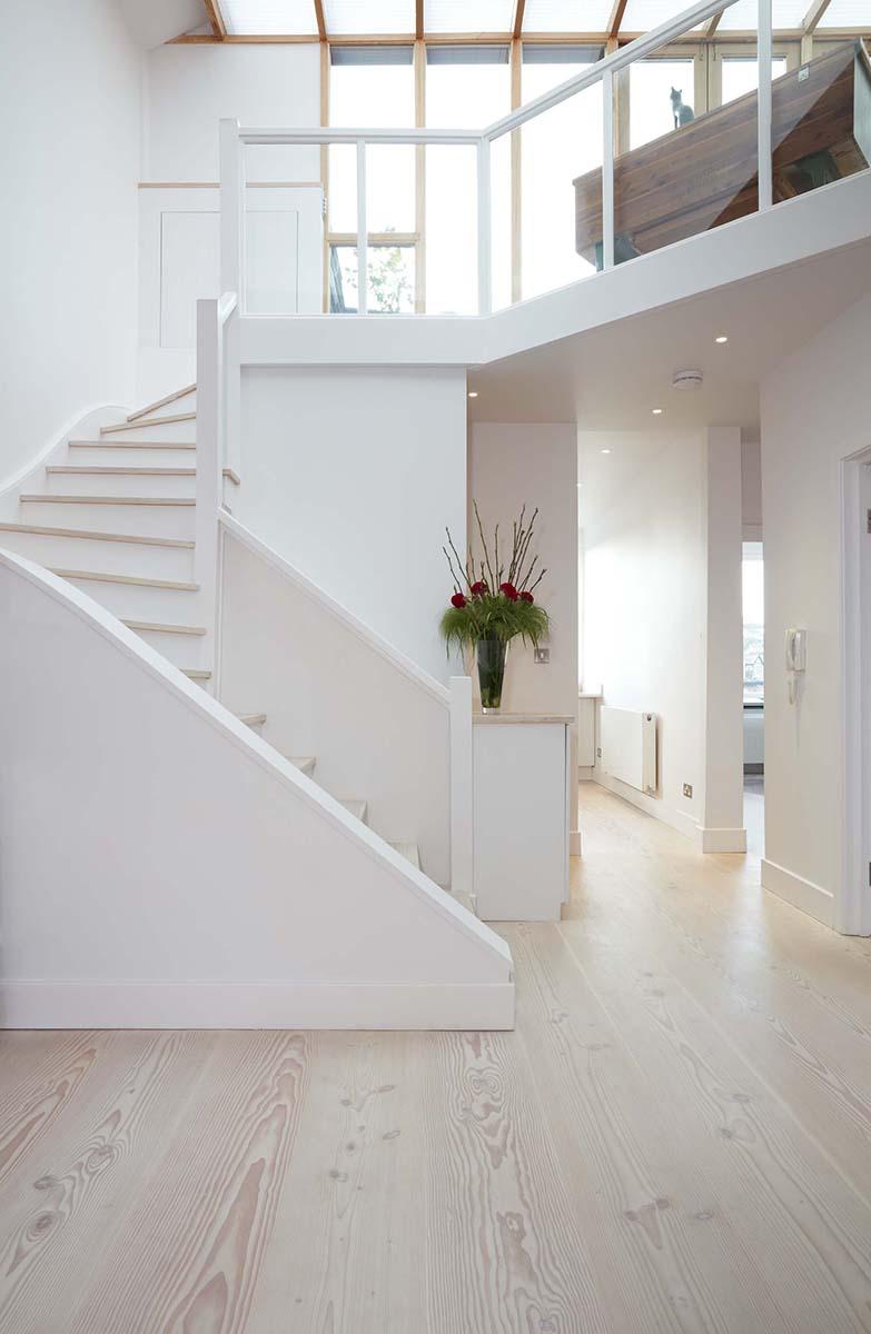 scandinavian hallway flooring design