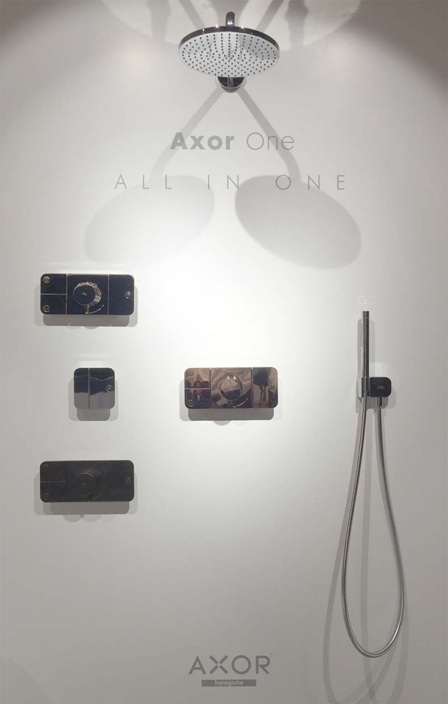 axor one shower controls at cphart london 1