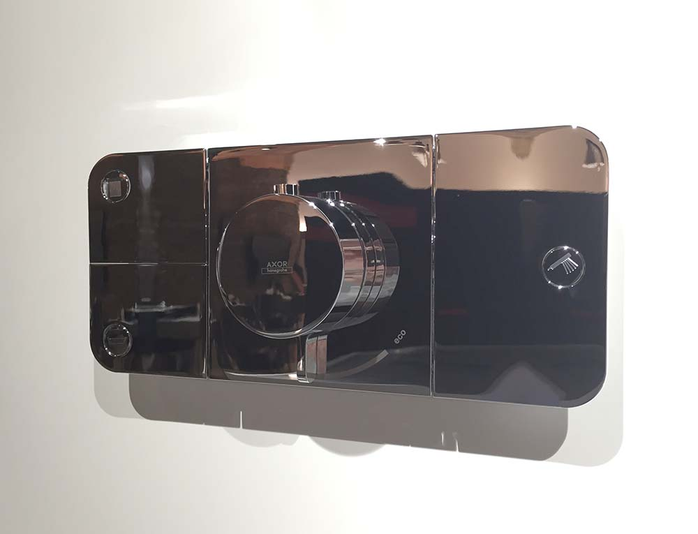 axor one shower controls at cphart london 2