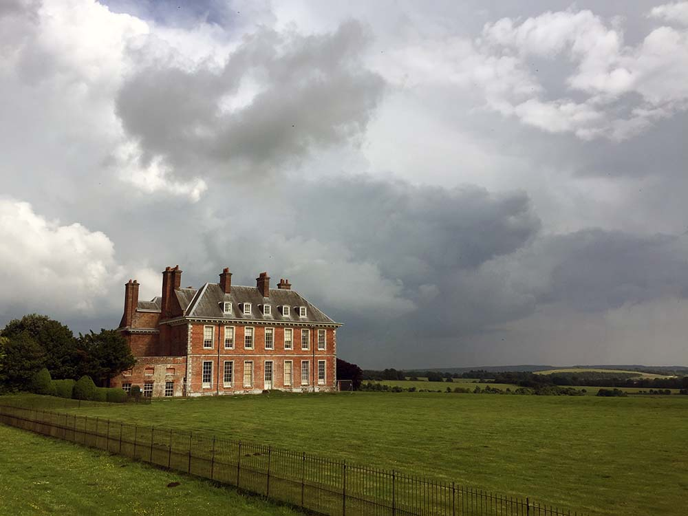 uppark house west sussex view of south downs
