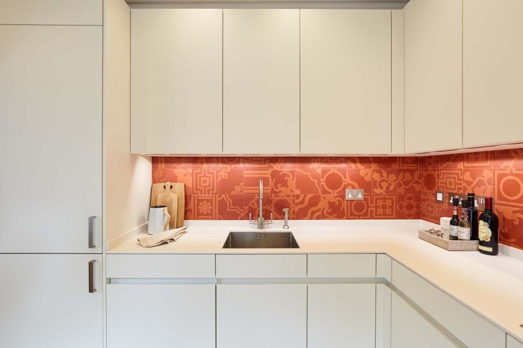 Cement Splashback Design in Knightsbridge Kensington London