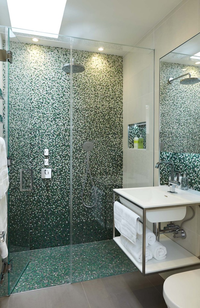 Bathroom Shower Mosaic in Knightsbridge Kensington London