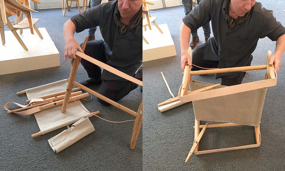 london design junction campaign chair assembly