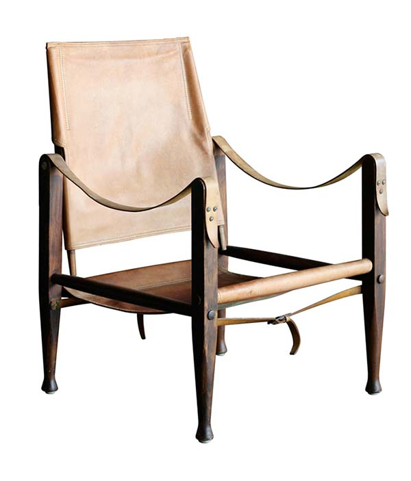 klint leather safari campaign chair