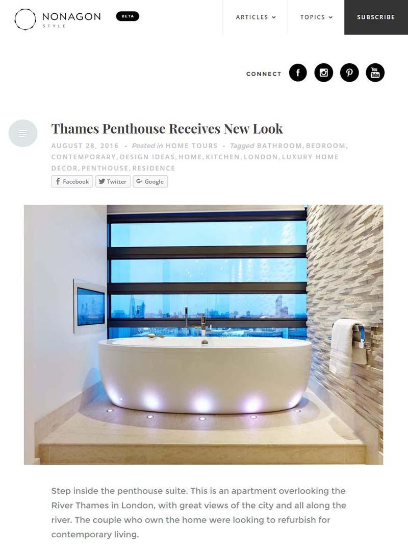 nonagon london penthouse interior design project