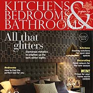 One of our London interior design projects in December's KBB Magazine