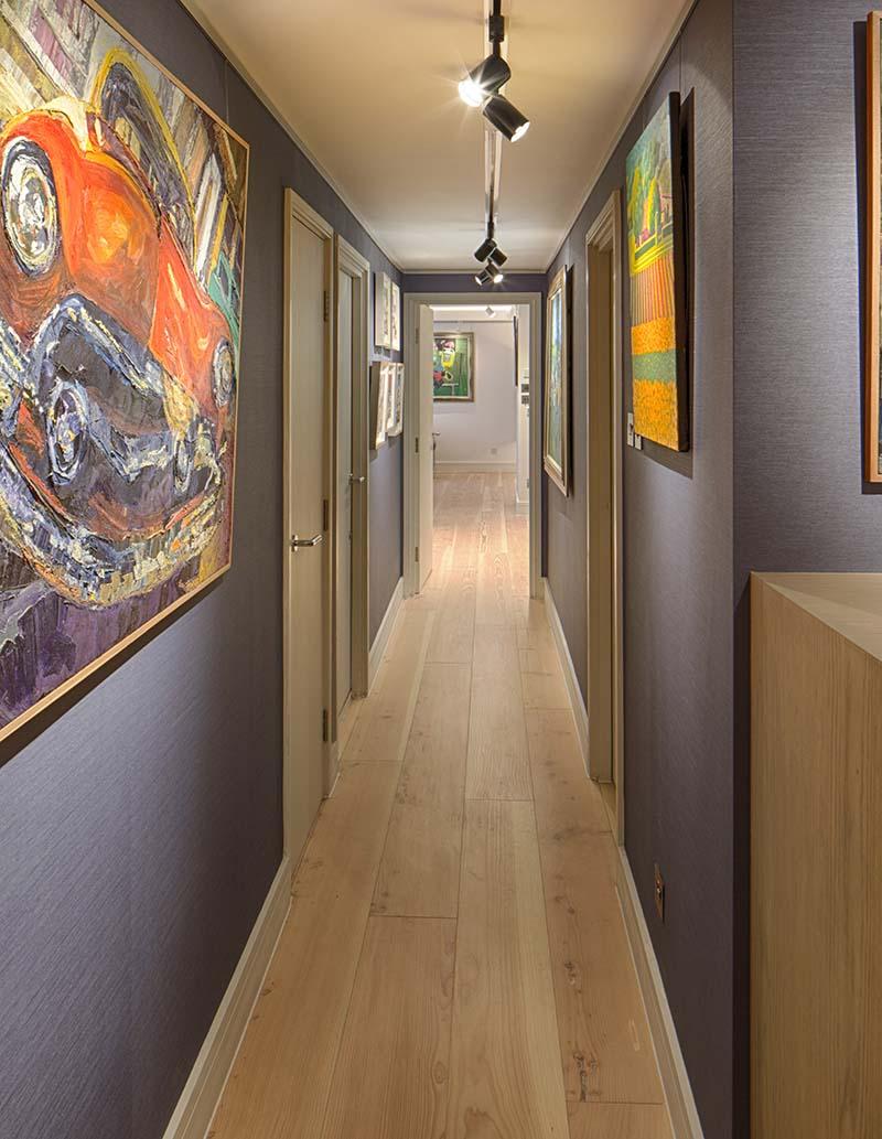 london farringdon artwork hallway lighting design