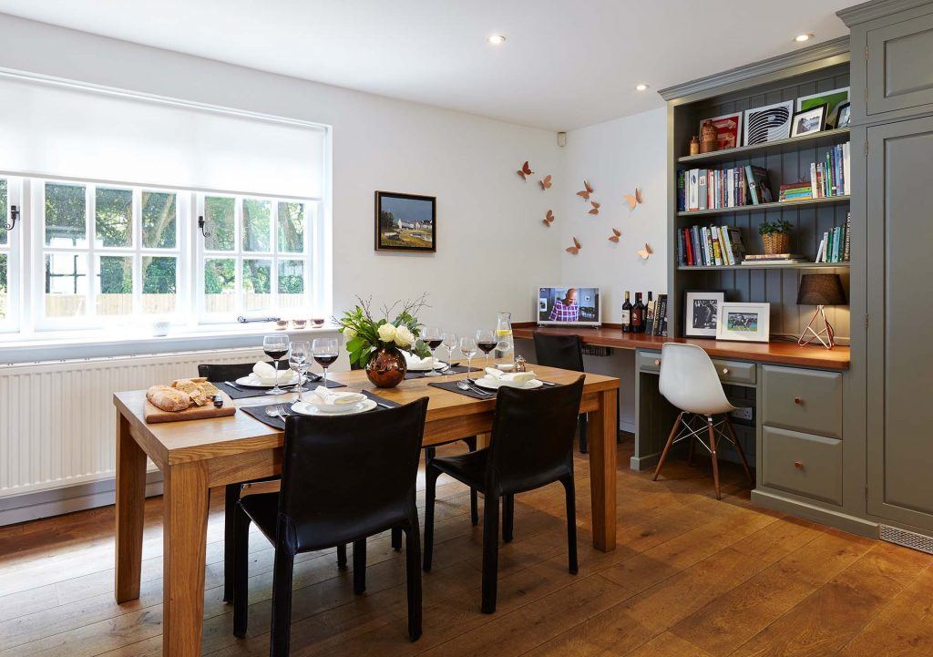 Dining Room Table Setting in Winchester Hampshire Kitchen
