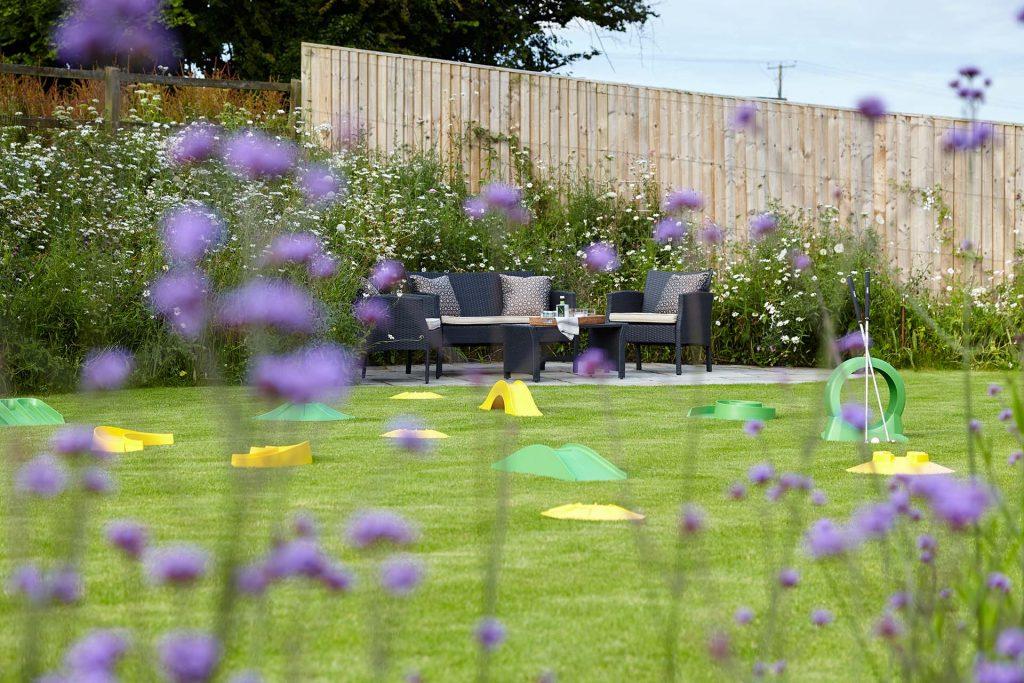 Hampshire garden landscape design minigolf