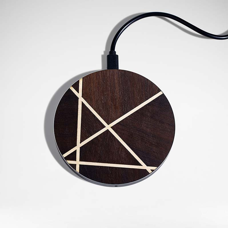 designer xmas timber charger