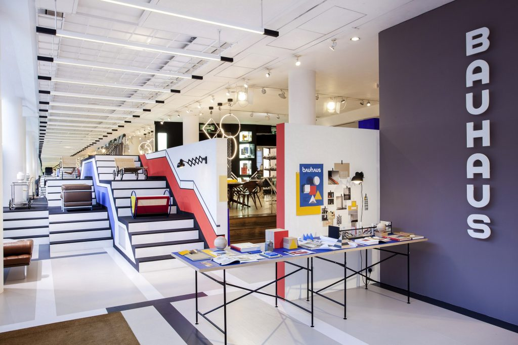 bauhaus display at conran design shop london