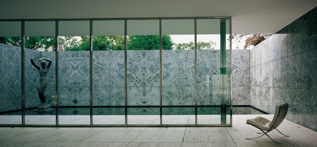 bauhaus mies van der rohe barcelona pavilion windows