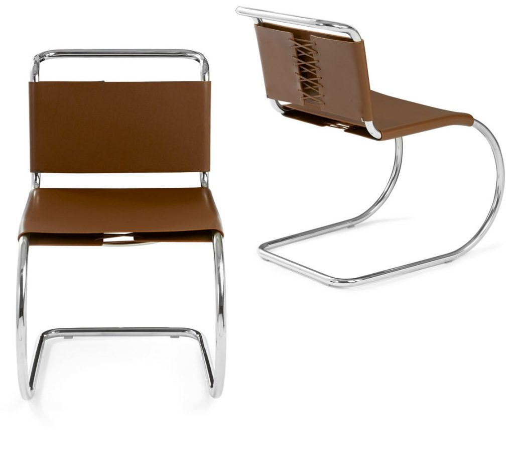 bauhaus mies van der rohe mr side chair design