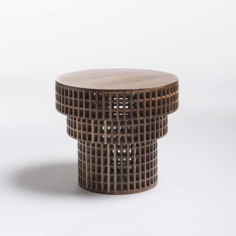 Fretwork table by Cara Davide