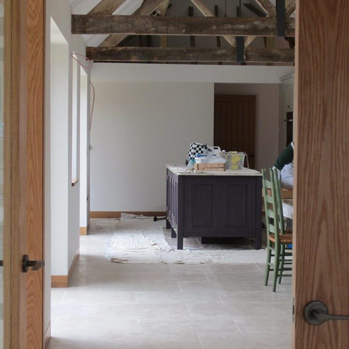 A beautiful interior taking shape in the Surrey Hills