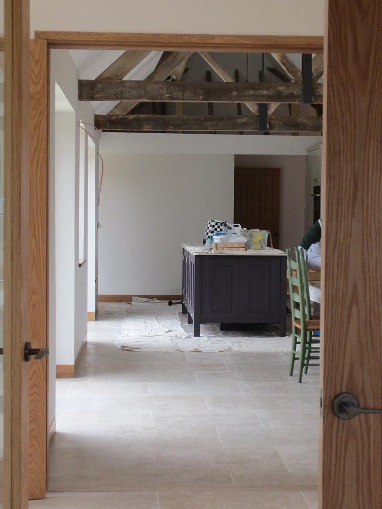surrey kitchen dining limestone floor