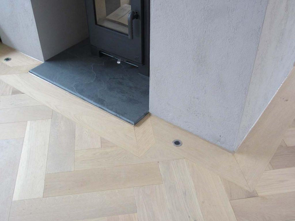 surrey parquet oak floor lighting detail