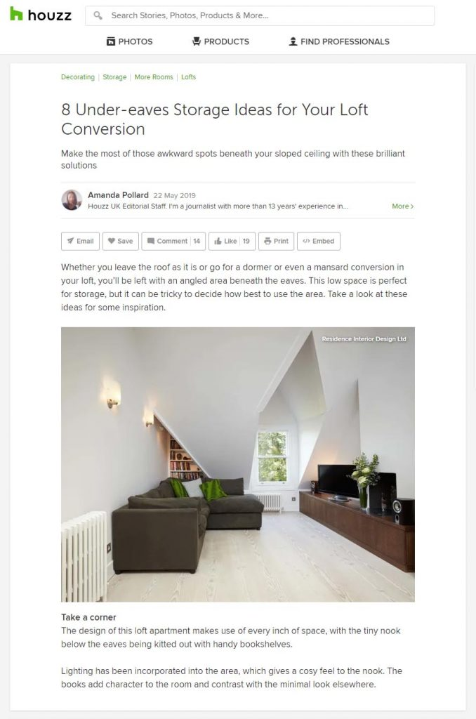 houzz london hampstead loft design project