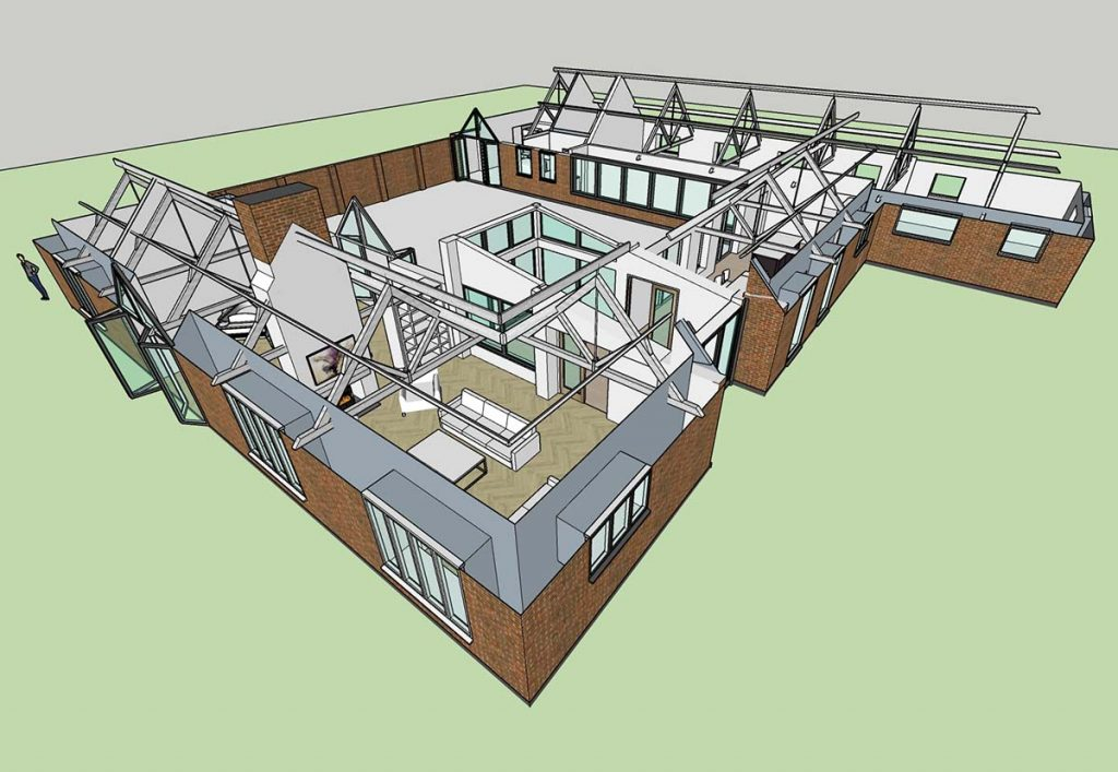 surrey hills space planning 3d design