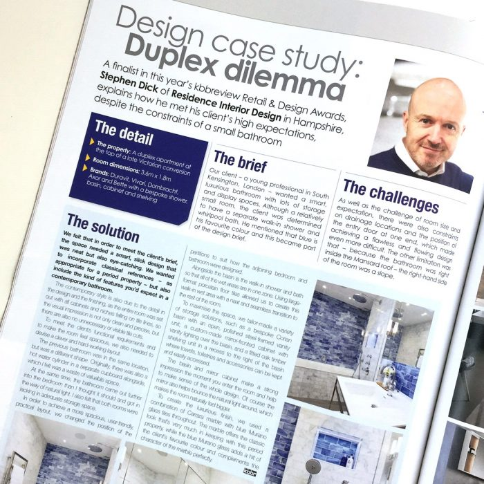 Our bathroom design in kbbreview's compact living case study special