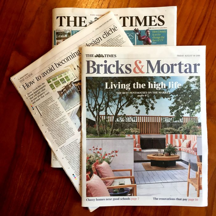 My interior design advice for The Times on the the best value home renovations