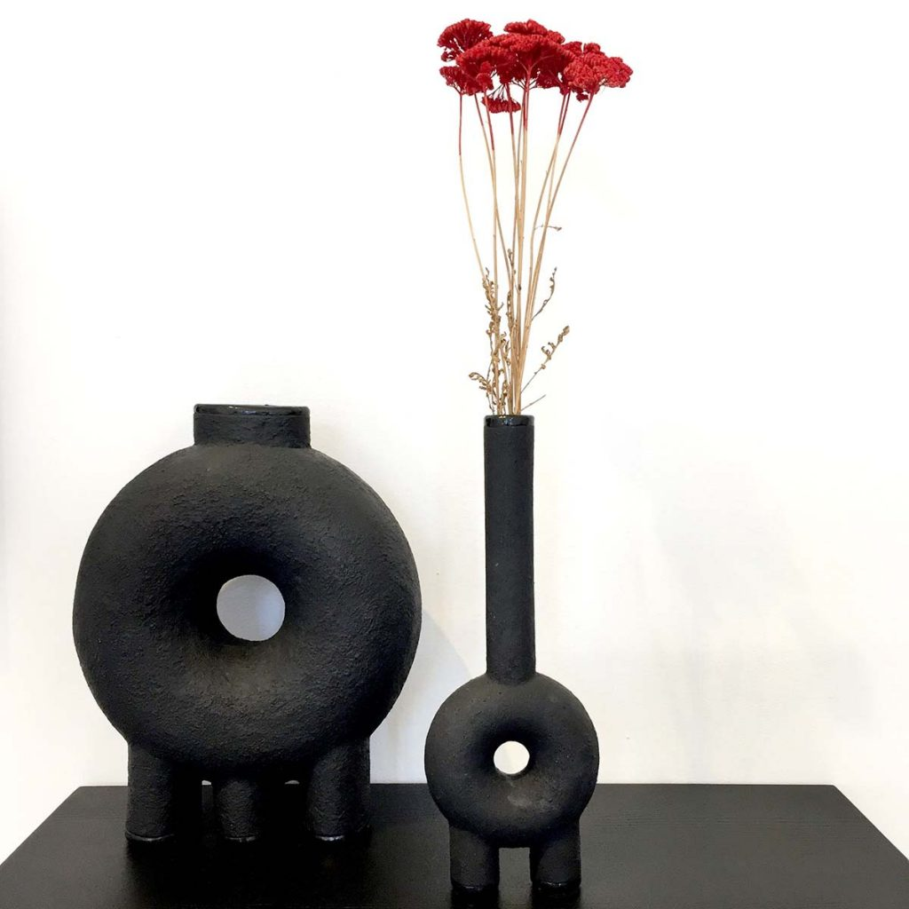 venice design ceramic figure vessels