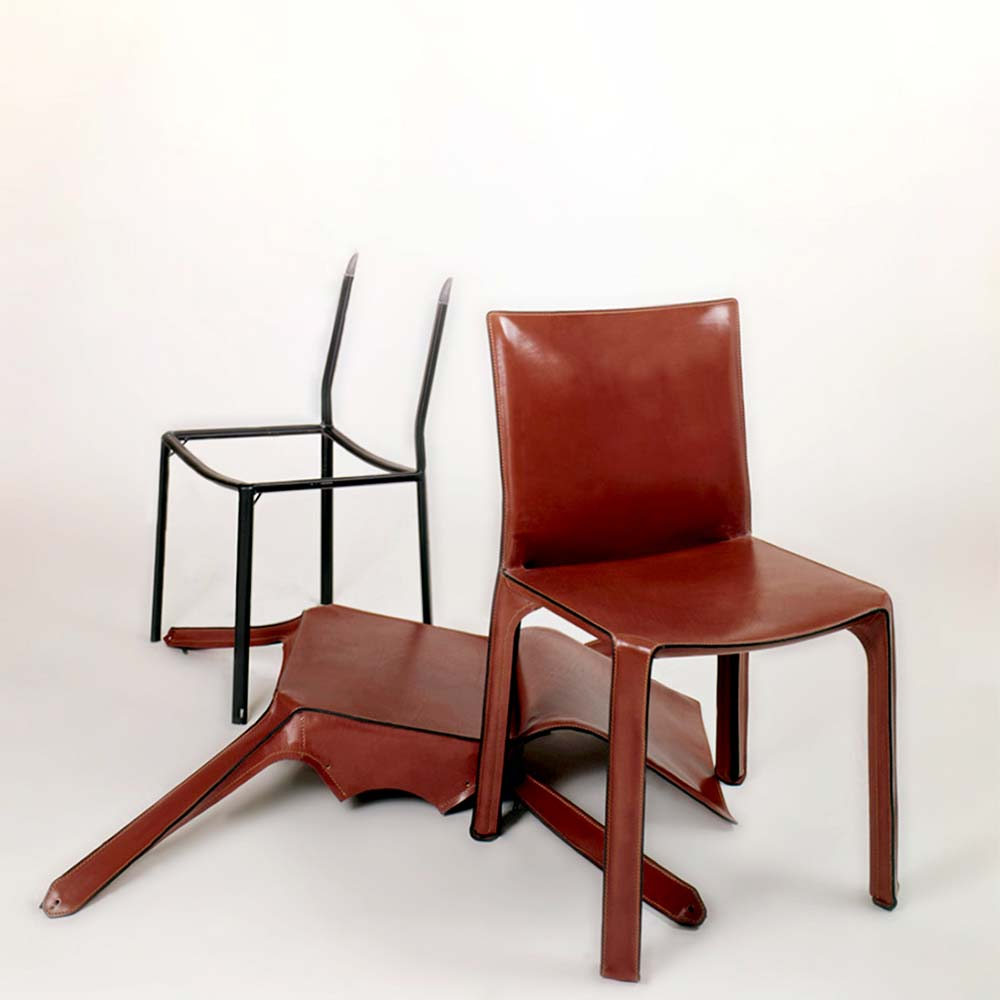 mario bellini cab leather chairs cassina