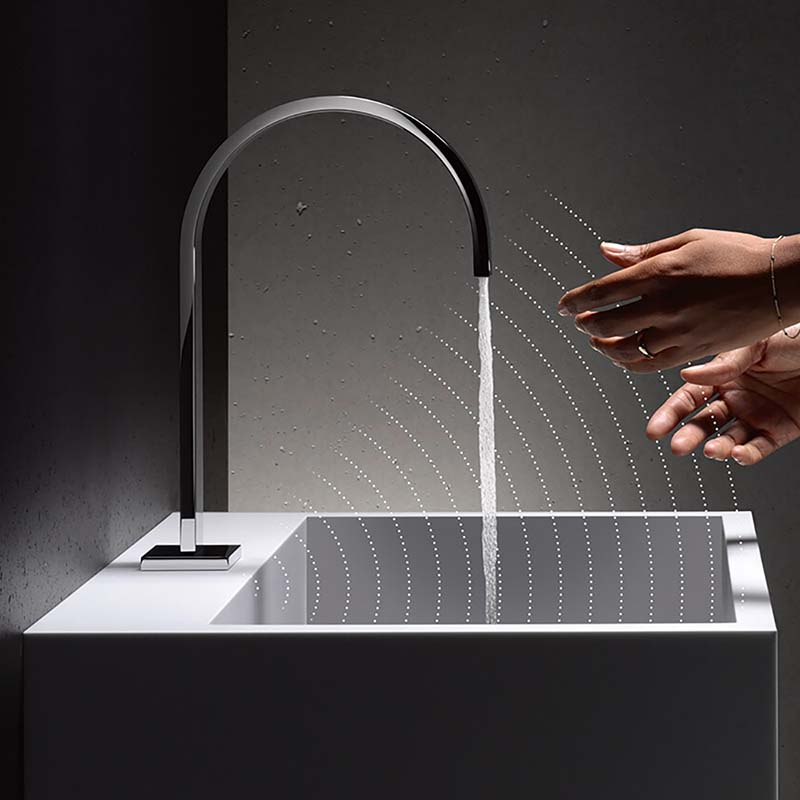 dornbracht touchfree bathroom tap design