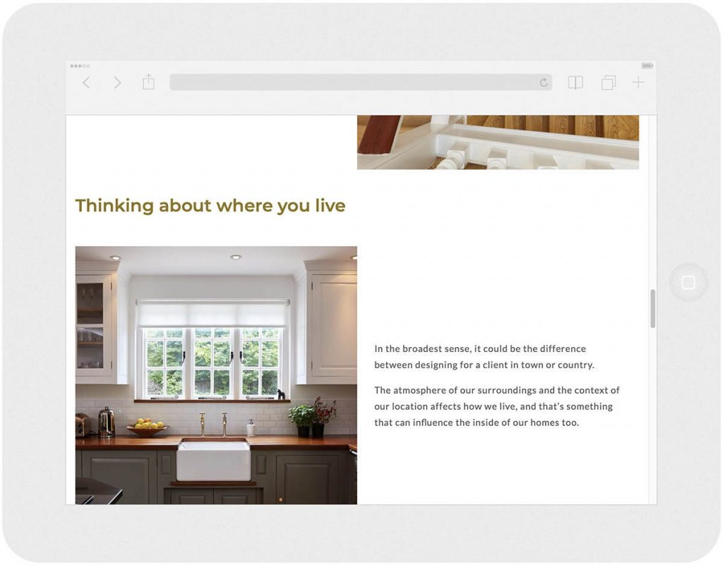 residence interior design website approach philosophy