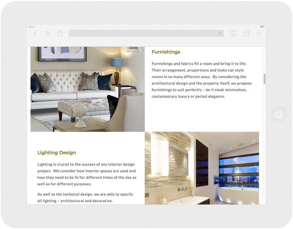 residence interior design website services award