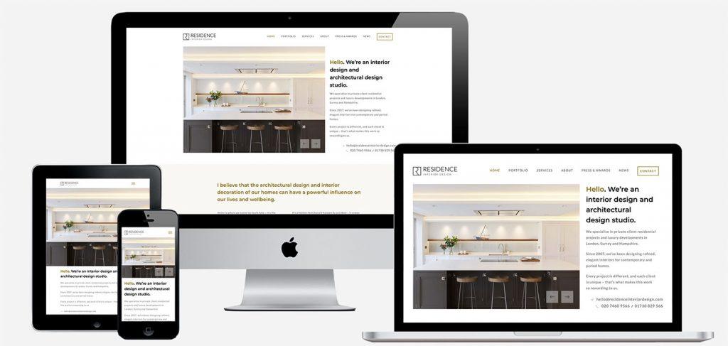 residence interior design award winning website