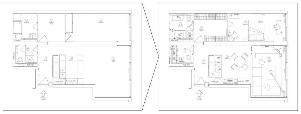interior design plan barbican estate flat