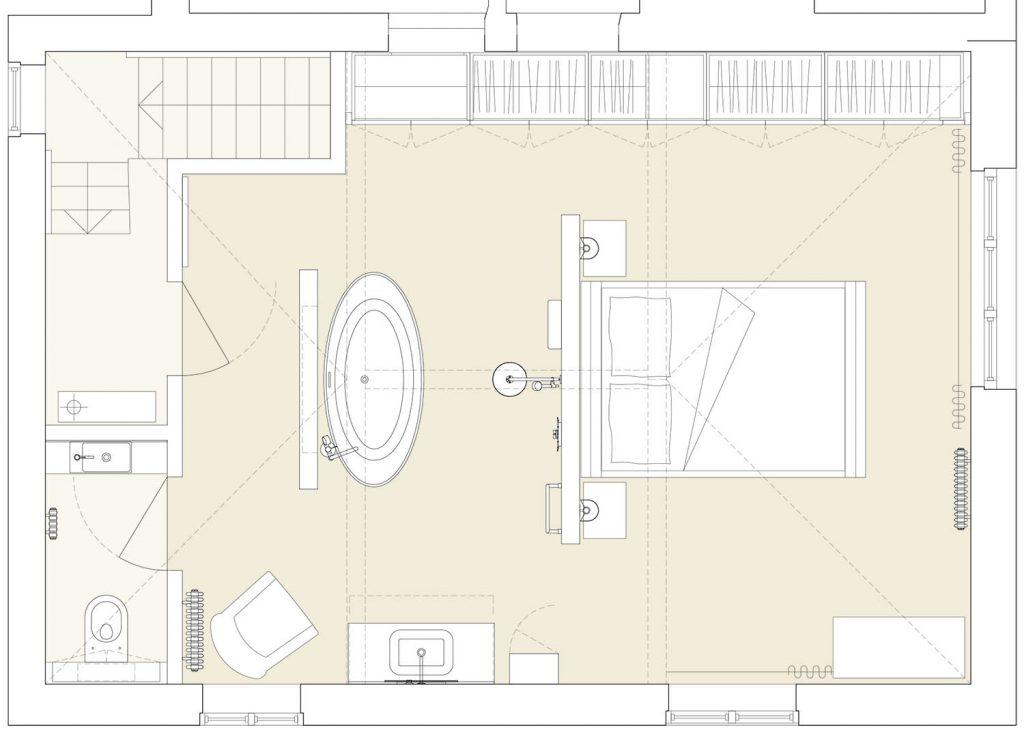 master suite redesigned broken plan layout