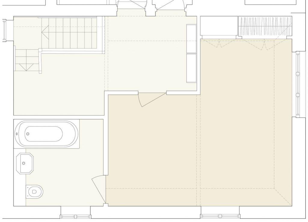 master suite original layout plan