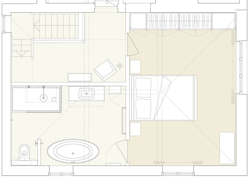 master suite redesigned layout plan