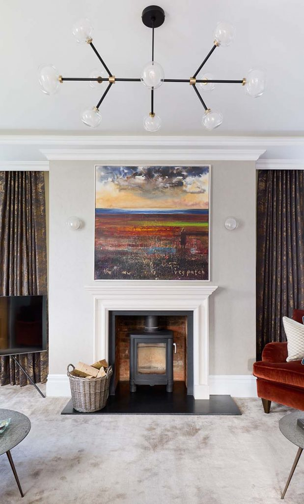 Oxfordshire reception room feature lighting design