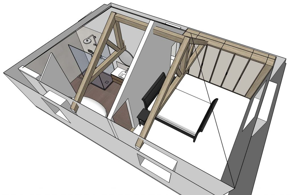 sketchup master suite redesigned perspective
